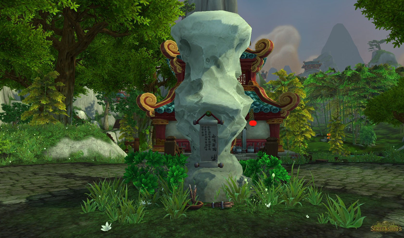 Greenstone Village http://wow-screenshots.net/screenshots/view/statue-in-the-middle-of-greenstone-village.html